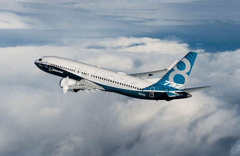 Boeing Plane in flight